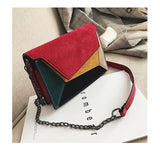 Fashion Quality Pu Leather Patchwork Messenger Criss-Cross Bag For Women - Sheseelady