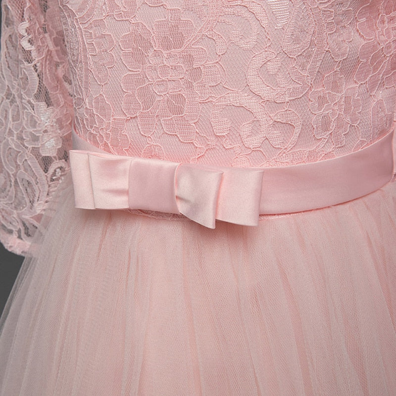 Long Evening Party Wedding Kids Dresses For Girls