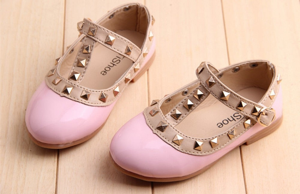 Princess Lady Girls Pu Leather Toddler Sneakers