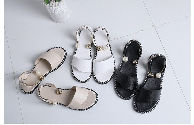 Women Sandals Flip Flops New Summer Fashion Rome Slip-On Breathable Non-Slip Shoes Woman Slides Solid Casual Female
