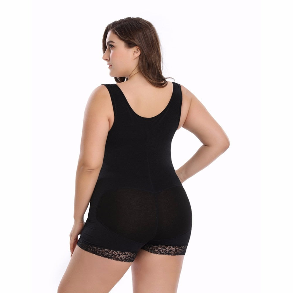 Full Body Shaper Shapewear Powernet Slimming Briefs Butt Lift Tummy Control Waist Trainer Plus Size - Sheseelady