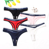 Sexy Women'S Cotton G-String Thong Panties String Underwear Women Briefs Soft Lingerie Pants Intimate Ladies Letter Low-Rise