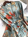 3 Pcs Printing Women Robe Sets Spaghetti Strap+Cardigan+Pant Set Sexy Fashion Female High Quality Pajamas - Sheseelady