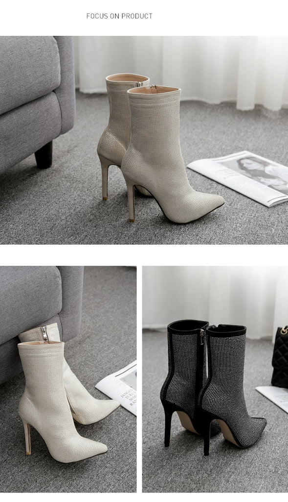 White Diamond Heels High Heels And Female Boots And Beautiful Shoes For Women'S Shoes