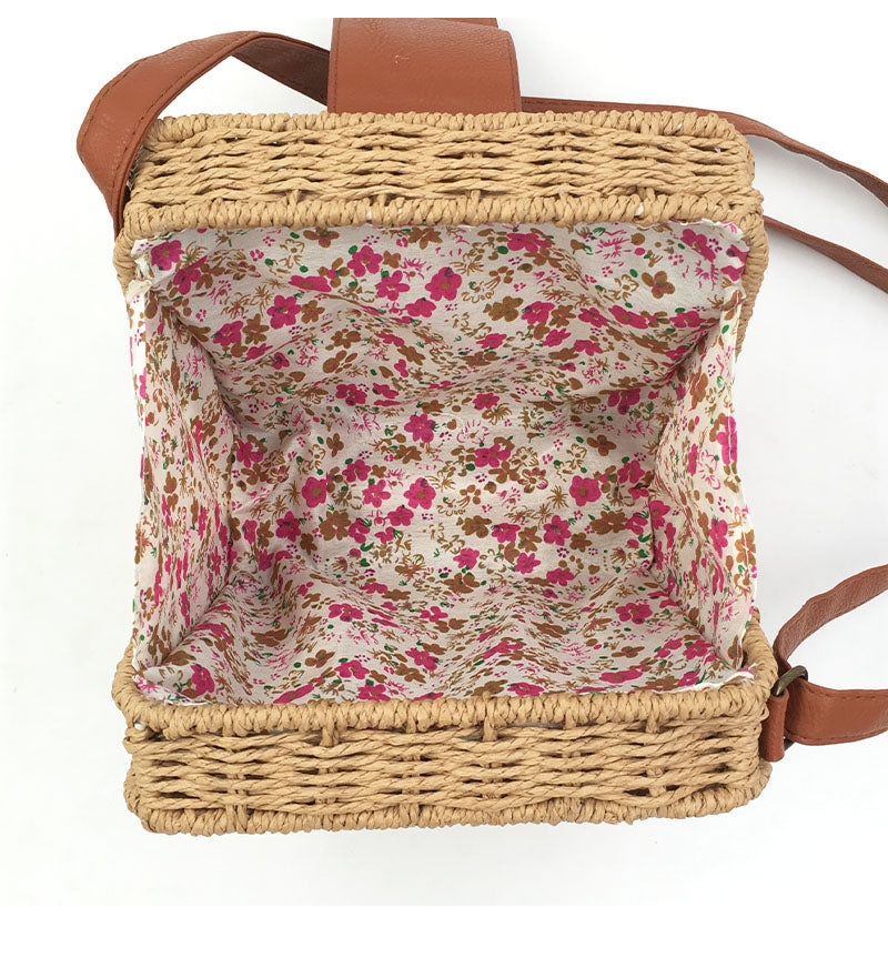 Hand-Woven Candy Color Women Straw Bag - Sheseelady
