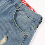 Autumn New Retro Hole Jeans Cotton Denim Trouseplus Size - Sheseelady