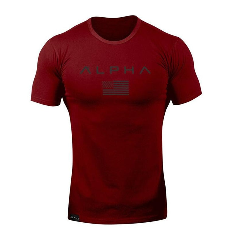 Cotton Breathable Men'S Short Sleeve Fitness T-Shirt - Sheseelady