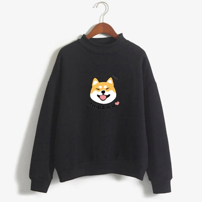 Casual Women Hoodies Fleece Autumn Cute Japanese Anime Pullover Sweatshirt