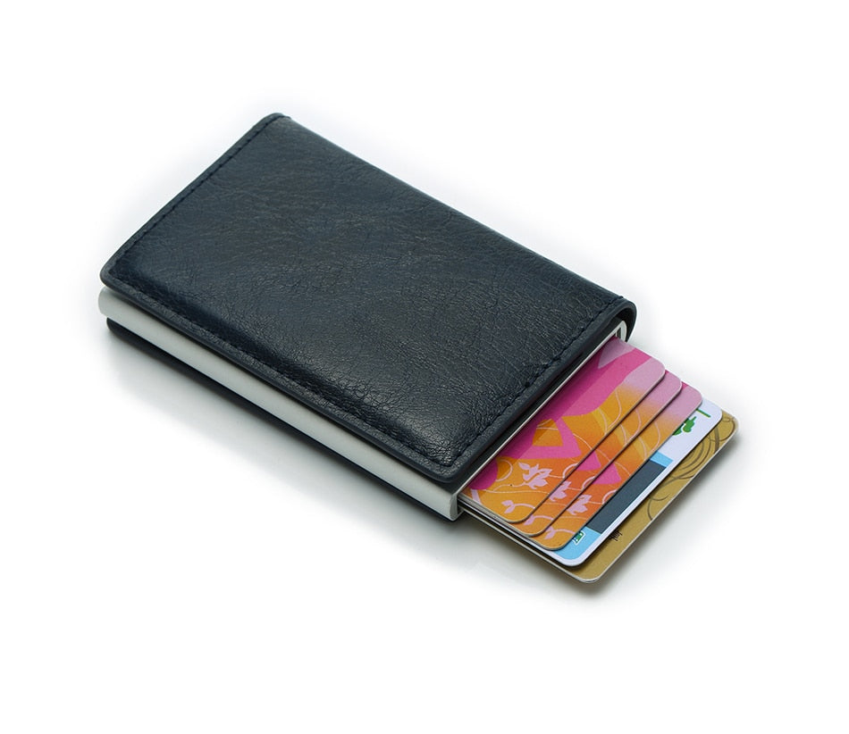 Pu Synthetic Leather Card Holder Small & Slim Professional Wallet For Men