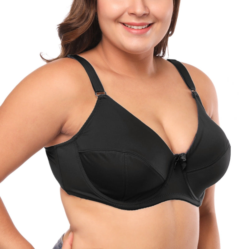 Plus Size Women Bra Full Cup Comfort Mother'S Underwear Classical Solid