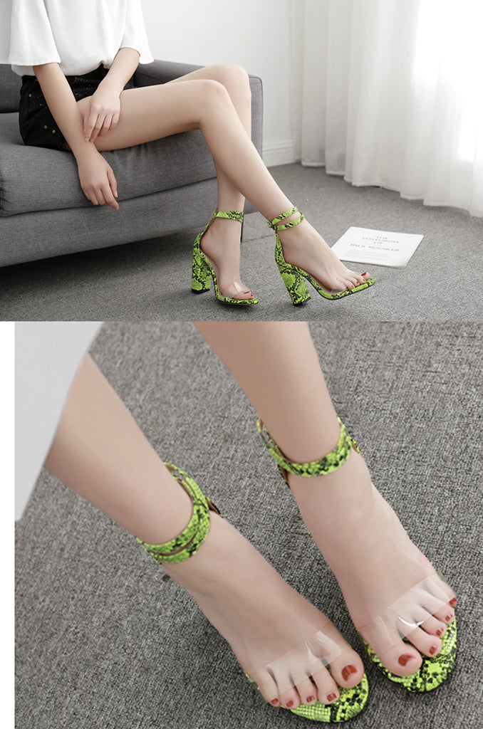 High Heels Sexy Party Transparent Sandals For Girls