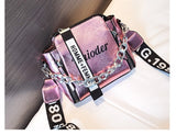 Pu Leather & Luxury Crossbody With Hand Holding Chain Mini Flap Bag