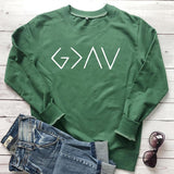 God Is Greater Than The Highs And Lows Women Sweatshirt Full Sleeve Believe Female Jesus Jumper Christian Pullover