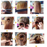 Synthetic Wig Donuts Bud Head Band Ball French Twist