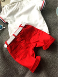 Sports T-Shirts+Pants Set For Kids Baby Boys And Girls