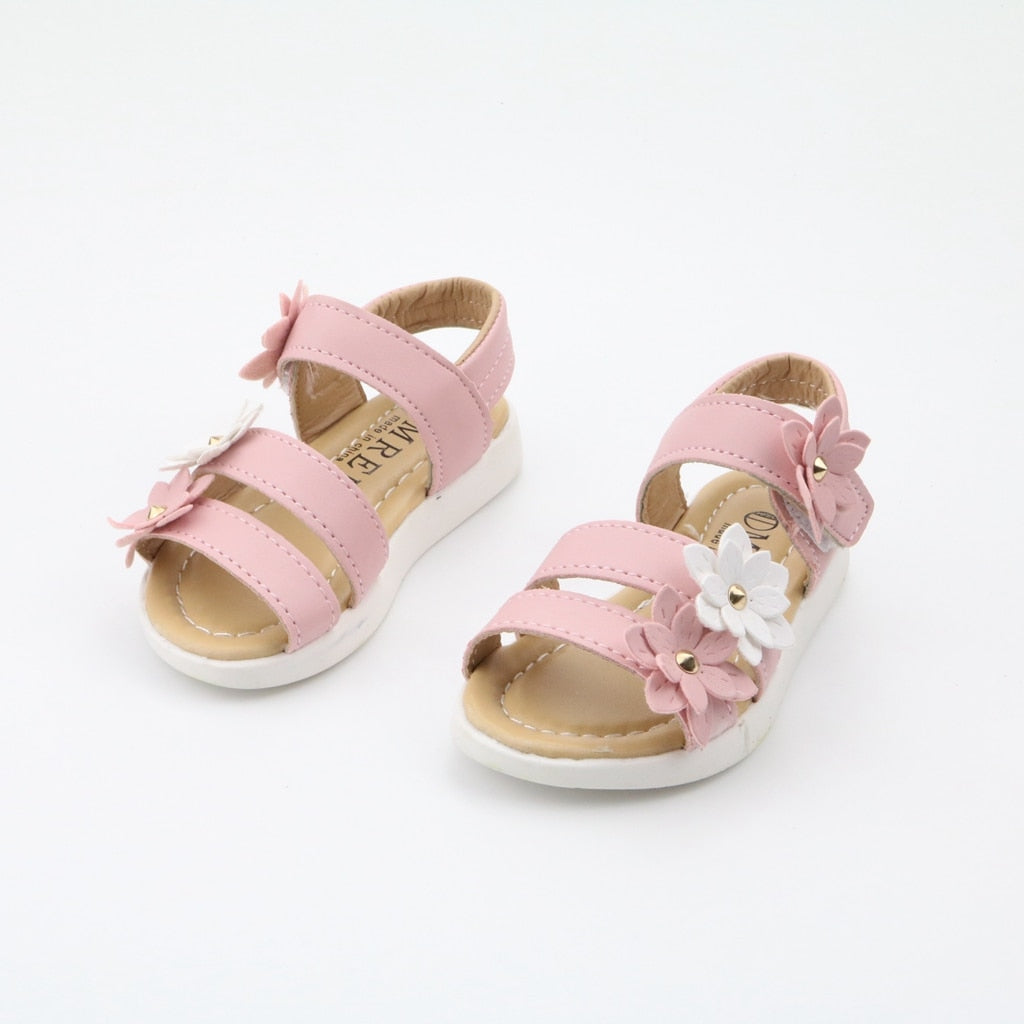 Children'S Shoes Summer New Kids Shoes Lovely Flower Shoes Fashion Girl Sandals Magic Baby Shoes For Kiad 21-36 - Sheseelady