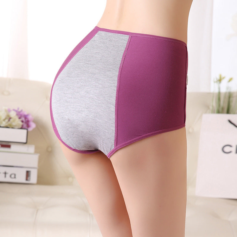 Large Size High Waist Period Panties For Women Briefs Cotton Menstrual Panties Leak Proof Plus Size Underwear Female Xxxl 4Xl - Sheseelady