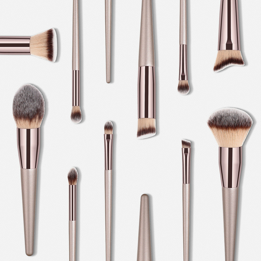 Foundation Powder Blush Eye Shadow Makeup Brushes Set - Sheseelady