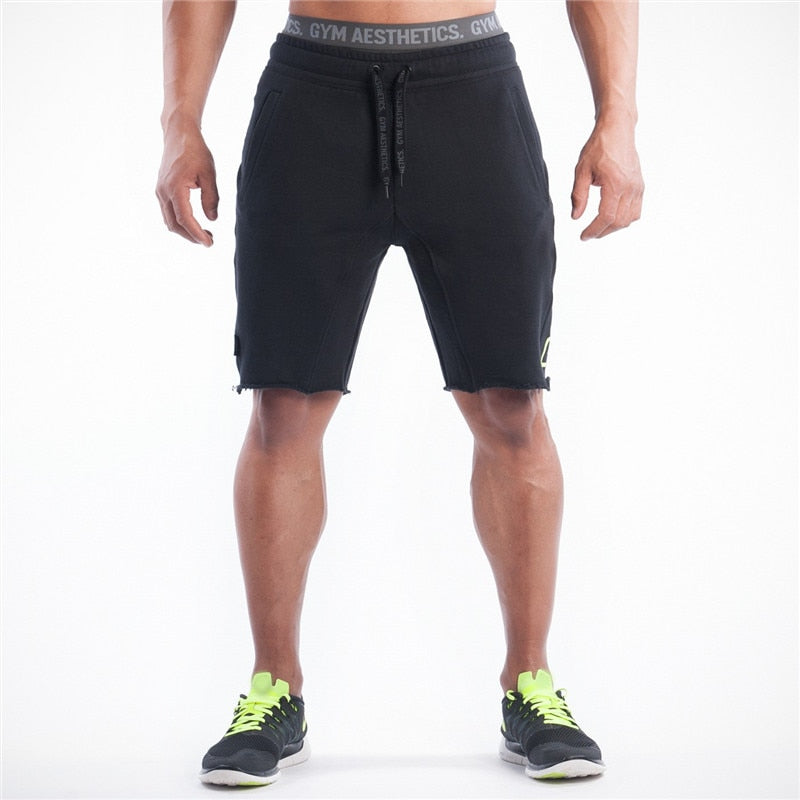 Slim Fit Short Trousers Bodybuilding Jogge Brand Durable Fitness Cotton