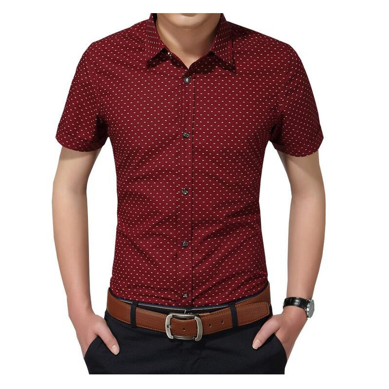 Men'S Social Polka Dot Casual Shirt