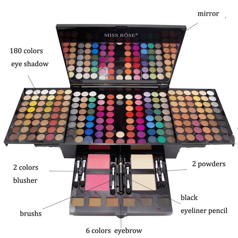 Multi Color Eye Shadow Palette Blush Powders Makeup Set