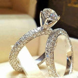 Zircon Silver Couple Rings Wedding Ring For Women And Men Engagement Ring