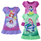 New 3-10Y Kids Short Sleeve Princess Dress