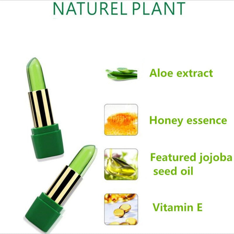 Aloe Vera Natural Temperature Change Color Jelly Lipstick - Sheseelady