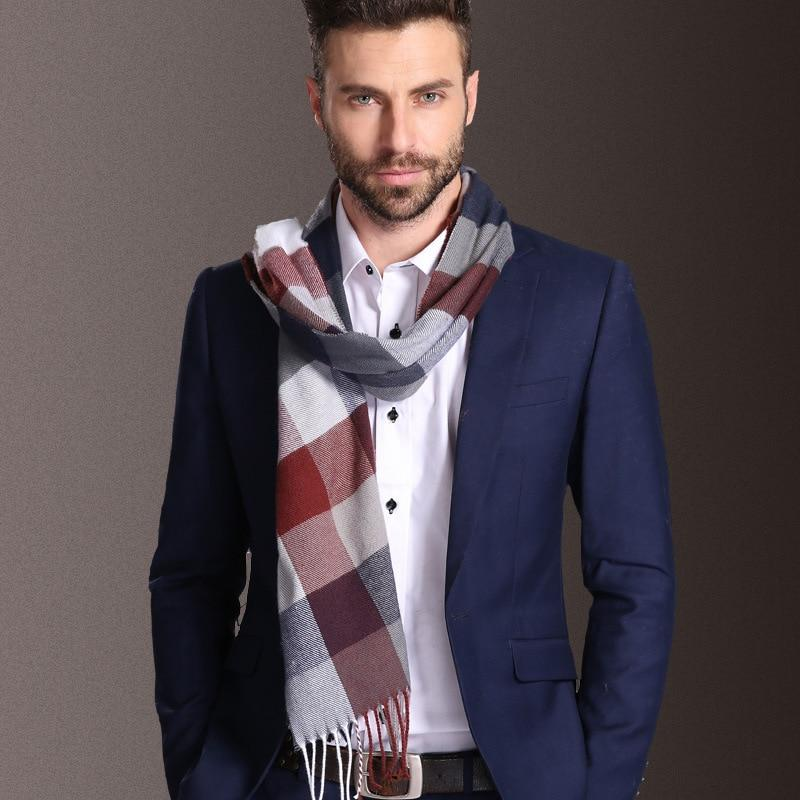 Fashion Shawl Scarves Warm Tartan Scarf For Men'S