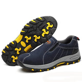 Steel Toe Safety Work Shoes Men Fashion Summer Slip Casual Labor Insurance