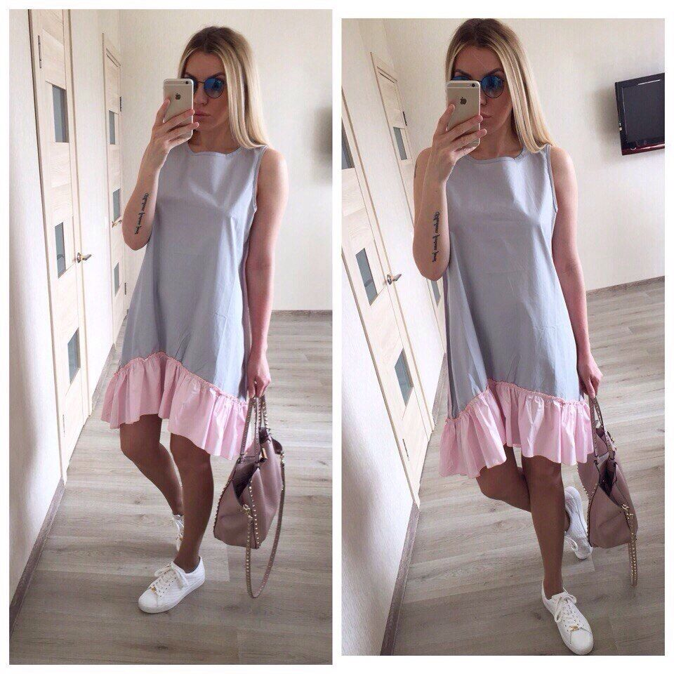 Loose Patchwork Sleeveless Ruffles O-Neck Mini Dress - Sheseelady