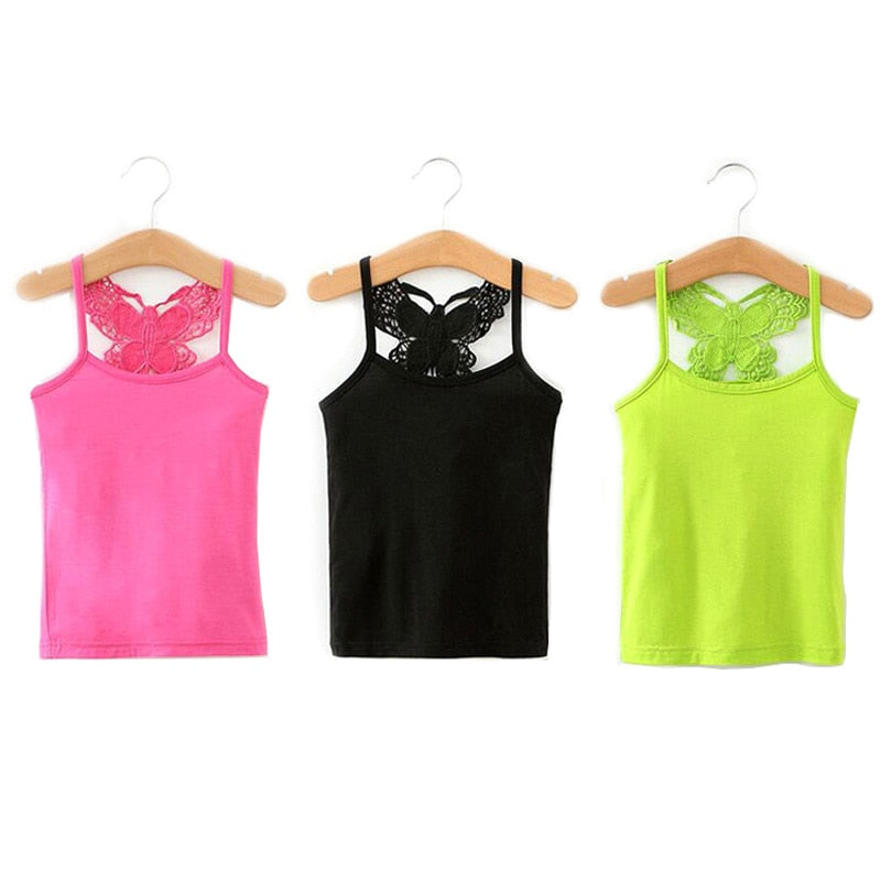Candy Color Girl Tank Tops And Undershirts For Kids - Sheseelady