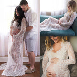 Maternity Tunics Pregnant Dress Lace See Through