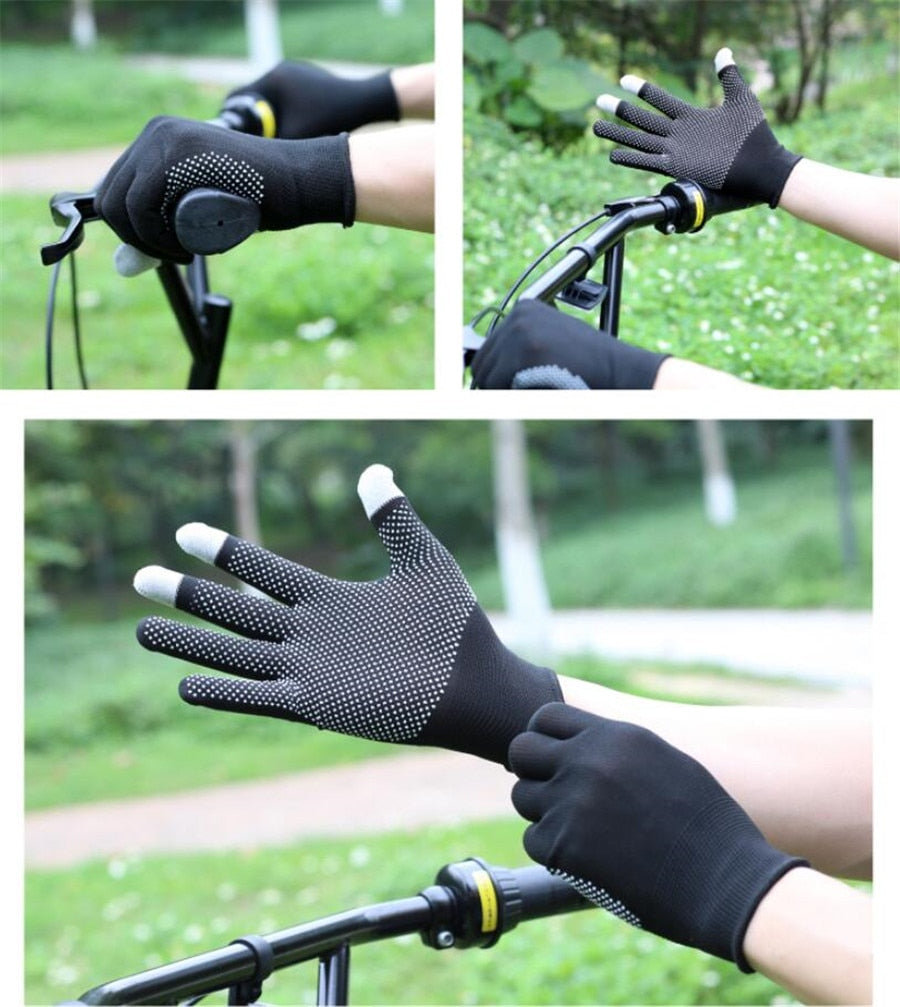 Thin Short Outdoor Mountaineering Gloves For Summer