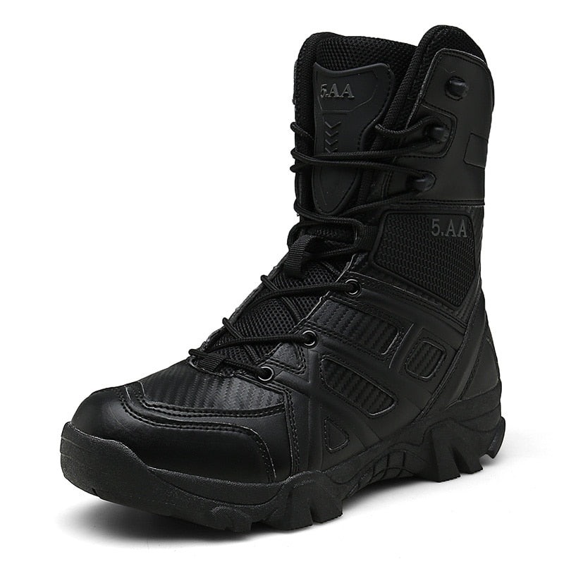 Military Leather Boots Special Force Tactical Desert Combat