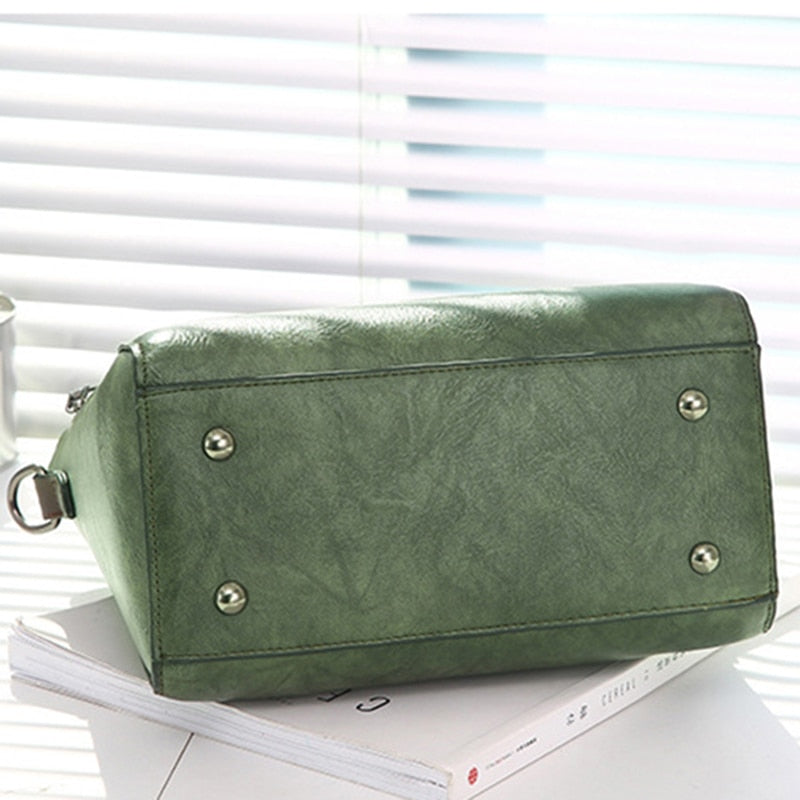 Vintage Pu Leather Ladies Handbags Women Messenger Bags Totestassel Designer Crossbody Shoulder Bag Boston Hand Bags