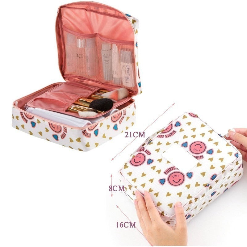 Hanging & Portable Waterproof Polyester Travel Cosmetic Bag - Sheseelady
