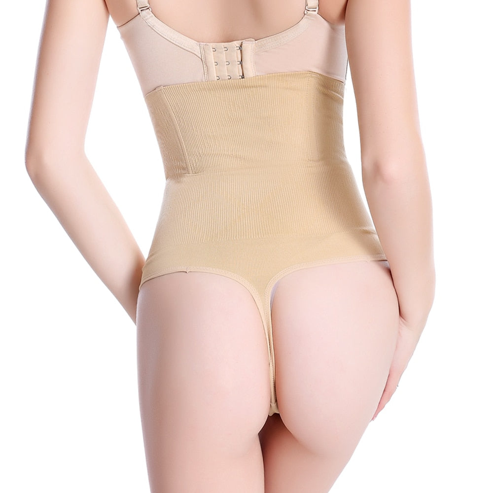 High Waist Tummy Control Panties Body Shaper Seamless Slimming Underwear - Sheseelady