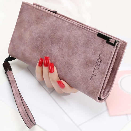 Women Fashion Wristlet Long Money & Coin Purse With Zipper Mobile Pocket