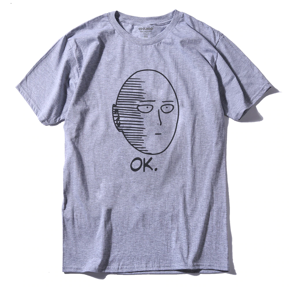 Cotton Anime One Punch Printed Men'S T-Shirt - Sheseelady