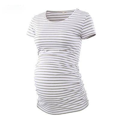 Pack Of 3Pcs Maternity Clothes Ropa Embarazada Tee Shirt Tops Pregnancy T-Shirt Casual Flattering Side Ruching