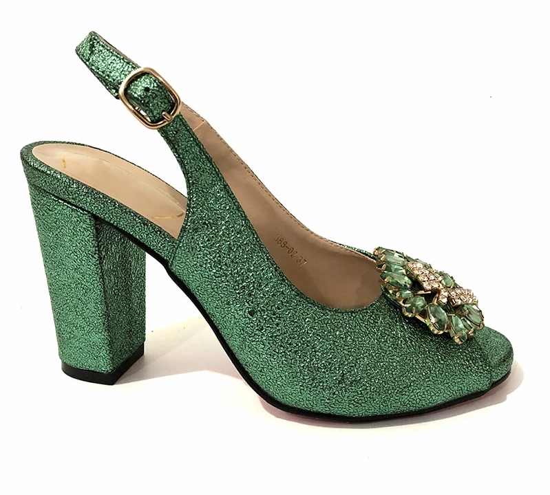 Crystal Buckle Strap High Quality Pumps For Women - Sheseelady