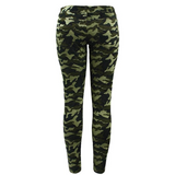 Chic Camo Army Green Skinny Jeans - Sheseelady