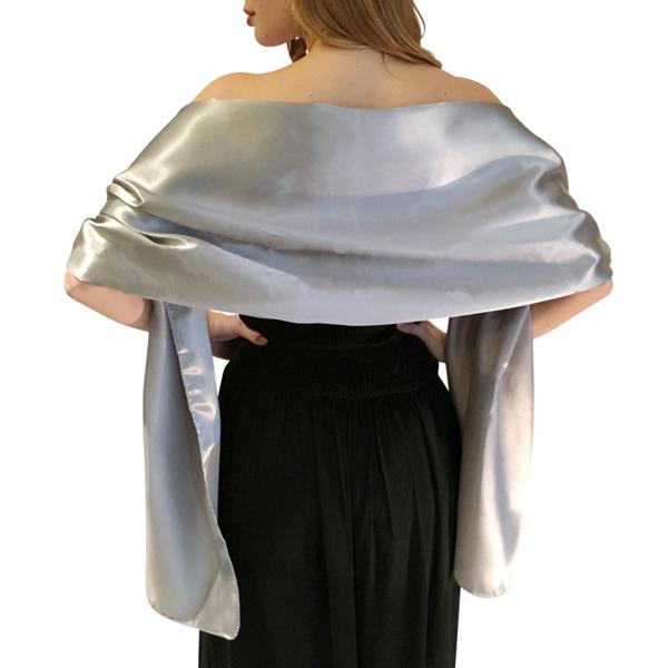 Elegant Women Satin Wrap Shawl Evening Party Wrap Bridal Wedding Shawl Wrap 2 Size Available Oem Order Accepted - Sheseelady