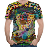 3D Printed Animal Monkey Short Sleeve T-Shirt - Sheseelady