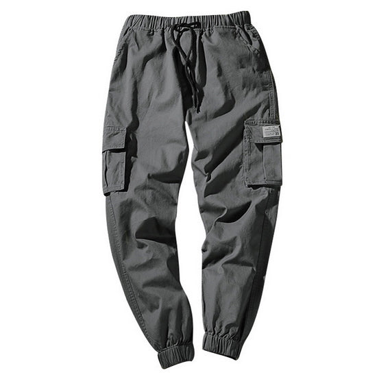 Spring Camouflage Cargo Trousers With Pockets For Men'S