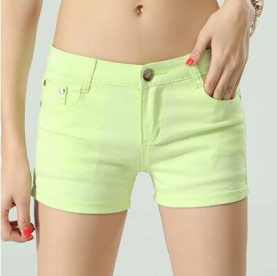 Women'S Shorts Denim Shorts Women Cotton Candy Color Short Jeans For Women Mid Waist Black White Sexy Short Feminino