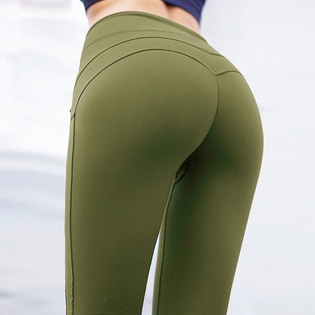 Sexy Female Breathable Patchwork Jeggings Activewear