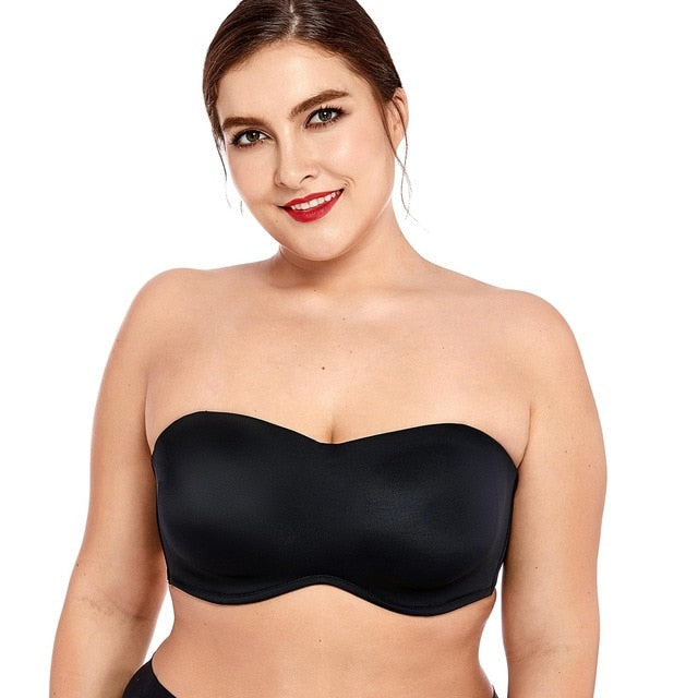 Women'S Smooth Seamless Invisible Underwire Strapless Minimizer Bra