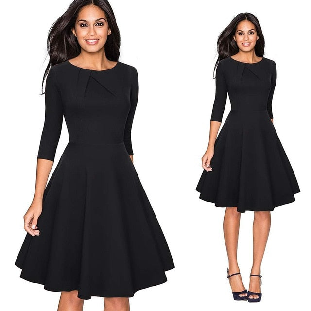 Elegant Ruched Cap Sleeve Casual Party Dress - Sheseelady
